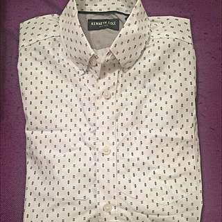 Kenneth Cole Casual Formal Fun Print Shirt (Brand New)