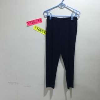 雪紡藍色西裝褲