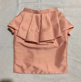 DUEDATE Peplum Skirt