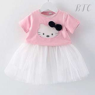 [READY STOCK] Two-piece Hello Kitty Top with Tutu skirt