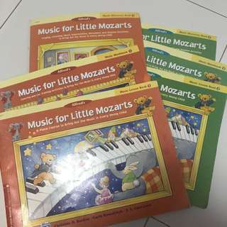 Alfred's Music for little Mozarts - book sets 1&2