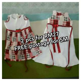 Girl Dress 2 for RM27 (FREE postagefor SM)