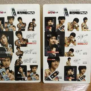 DBSK/TVSQ Rare stickers, with all member autographs