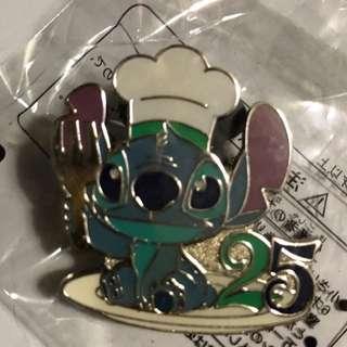 日本 迪士尼 徽章 TOKYO DISNEY PIN GAME PIN STITCH 廚師