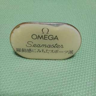 二手日版 OMEGA SEAMASTER 金屬展示牌 歐米茄
