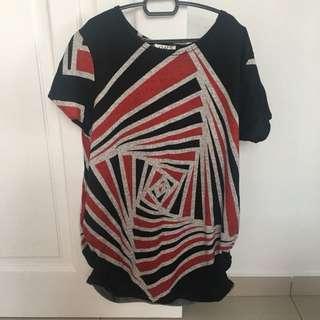 black prints top