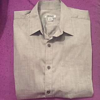 Solid Grey DKNY Formal Shirt (Brand New)