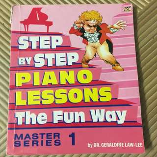 Step by Step piano lesson Master series 1