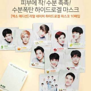 EXO NATURE REPUBLIC REAL HYDROGEL MASK