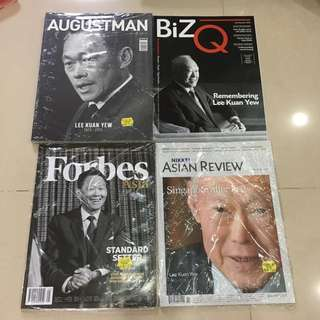 Mint Sealed Lee Kuan Yew PAP LKY Augustman August Man Forbes Asian Review