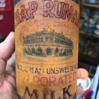 Vintage Chap Rumah Milk Tin