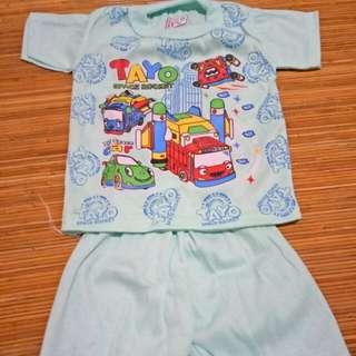 Setelan pendek kaos bayi #awaltahun