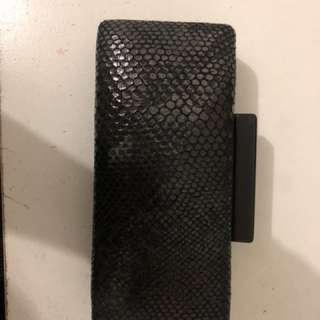 Black snake design purse