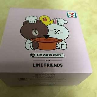 7仔盒_line公仔(lecreuset)橙仔圖形糖果盒brown