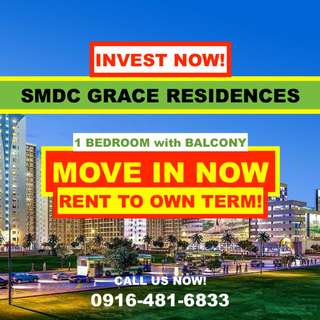 1 BR RENT TO OWN Condo TAGUIG CITY (SMDC Grace Residences)