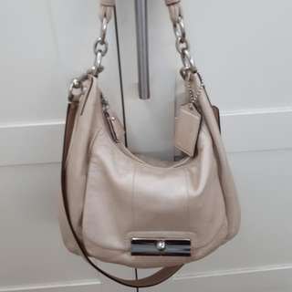 Preloved Authentic Coach Beige Kristen bag