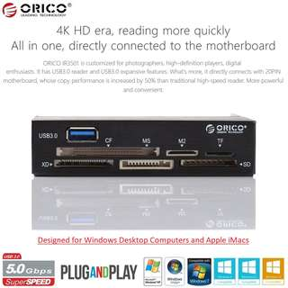 Brand New! ORICO All-In-One Internal USB3.0 Memory Card Reader for Desktop - $22