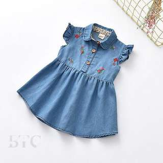 [READY STOCK] Denim Jeans Dress
