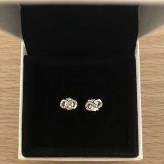 PANDORA INFINITE LOVE EARRINGS STUDS -BRAND NEW