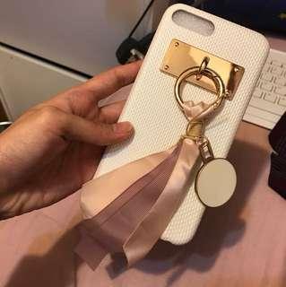 Iphone 7plus/8plus phone case 電話殼 白色 氣質 粉色
