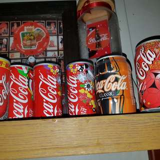 coca cola empty cans