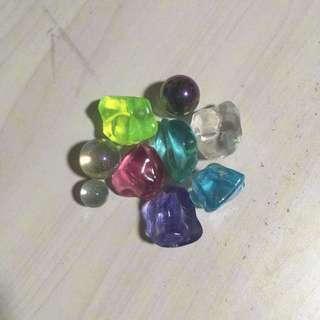 Colourful stones and marbles for aquarium/ plant pot