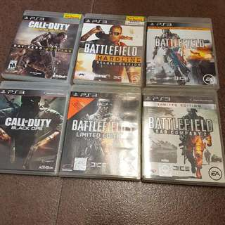 PS3 Gaming Disc $8 Each