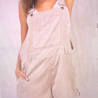 Princess Polly motel nude dangaree playsuit overalls