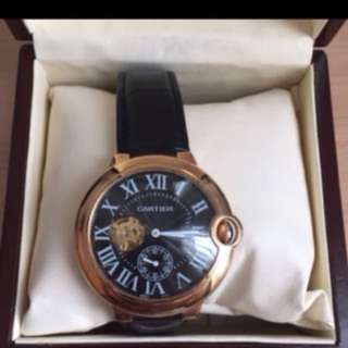 Jam tangan Cartier mirror premium quality , tdk luntur