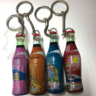 可口可樂國家吊飾 台灣日本泰國俄羅斯
