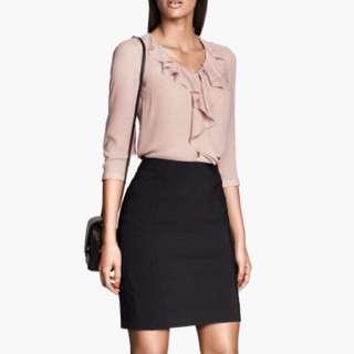 H&M Size 12 Black Pencil Skirt