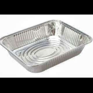 Disposable aluminum tray half size