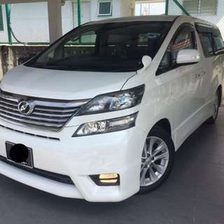 Toyota Vellfire 2.4 (A) 2010 Excellent Condition
