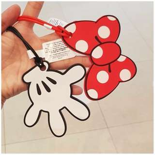 Bag Tag Mickey and Minnie Mouse