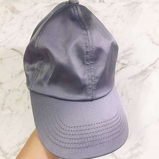 Grey Satin Hat