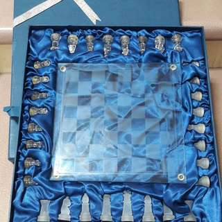 Exquisite glass chess set