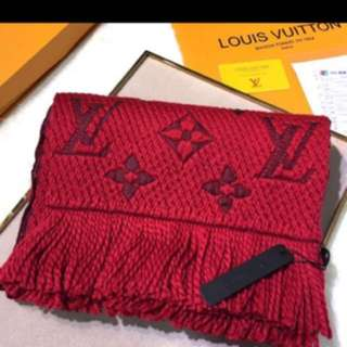 Valentine's Day gift . Authenthic LV dual  color scarf with receipt and full set packaging
