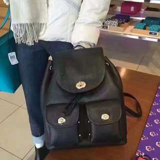 Coach backpack leather
