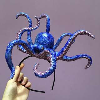 Handmade Octopus headband/ hat/ headgear/ hair accessory