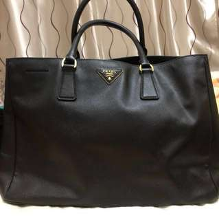 Prada Saffiano (fit A4 size doc) hand held only