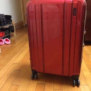 Red Luggage 24""