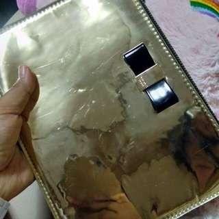 VS gold zip pouch