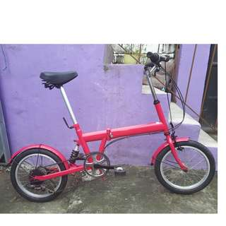 JAPAN PINK FOLDING BIKE (FREE DELIVERY AND NEGOTIABLE!)
