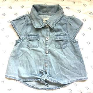 Old Navy chambray top
