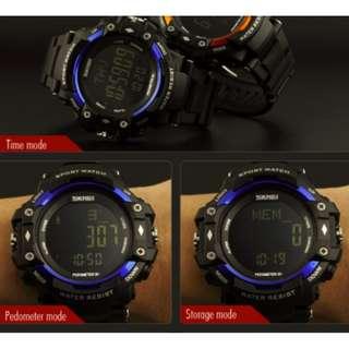 Heart Rate Sports Watch - w/ Pedometer, CaloriesCounter (Blue)
