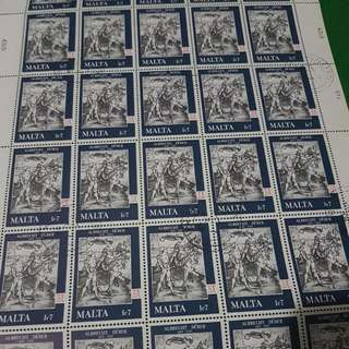 1978 7 March The 450th Anniversary Of The Deatg Of Albrecht Durer Full Stampsheet Sheetlet Malta Stamp Europe Stamp Sheet