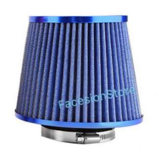 Universal Racing Sport Air Filter 3inch Hole (Blue)