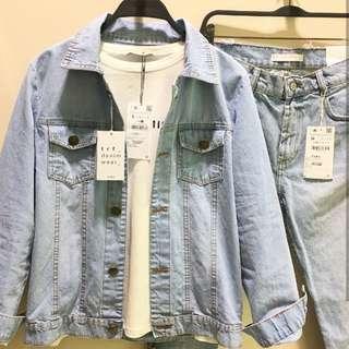 Konichiwa Oversized Denim Tumblr Jacket