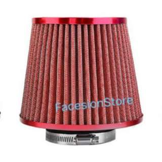 Universal Racing Sport Air Filter 3inch Hole (Red)