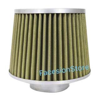 Universal Racing Sport Air Filter 3inch Hole (Yellow)